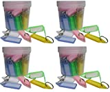 #1: Aai Pack of 200 Assorted Multipurpose Tag Label Keychain