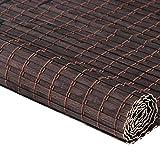 ZEMIN Bambus Rollo Bambusrollo Schatten Innen/Außen Installieren Anpassbar Ländlich Handhebend, 2 Farben, 23 Größen (Farbe : Brown, größe : 120x180CM)