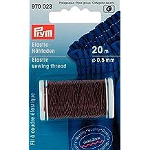 Prym-elastico 0,5 mm x 20 m, filo da cucito, colore: marrone