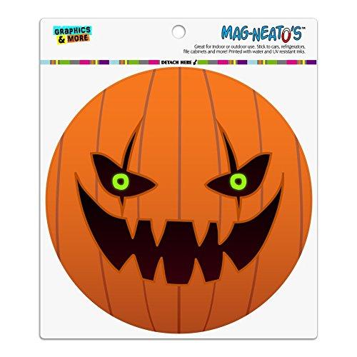Jack O 'Lantern Kürbis Gesicht Halloween Dekoration Automotive Car Kühlschrank Locker Vinyl Kreis - Für Gesicht Halloween-kürbisse Designs