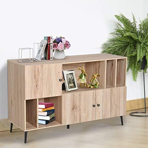 Generic den Storag Meuble de Rangement en Bois de chêne pour Salle à Manger, TV et Support élégant en chêne