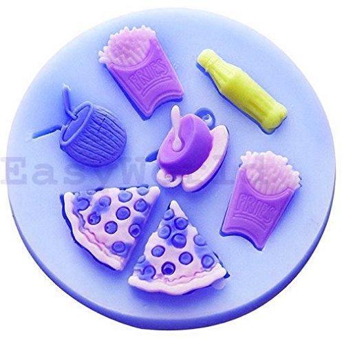 Silikonform zur Verwendung mit Casts von Speisen und Getränken Snacks Eis-chips Maker
