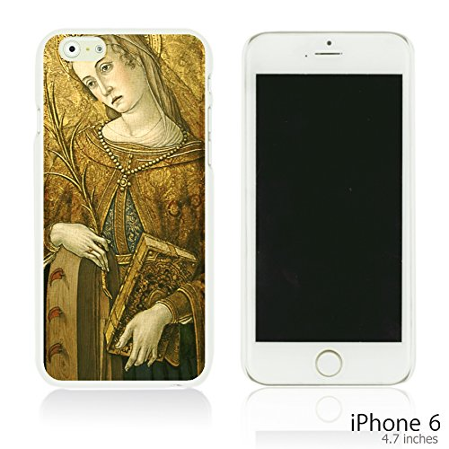 OBiDi - Art Paintings Hardback Case / Housse pour Apple iPhone 6 / 6S (4.7 inch)Smartphone - Vintage Painting Birds and Flowers St. Catherine of Alexandria