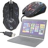 DURAGADGET Gaming Maus mit farbigen LED für Computer Acer Predator, Acer Aspire, ACER V Nitro–Multitasking und rutschfest–Design SKORPION