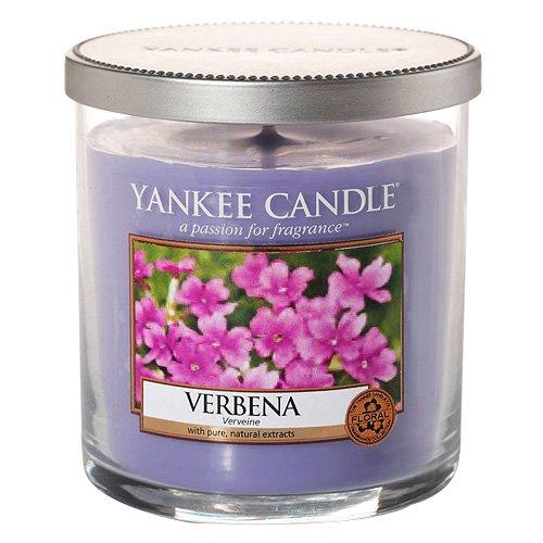 Yankee Candle 1507758e Small Pillar Verbena-Vela perfumada, cristal, lila, 8,7x 7x 7cm