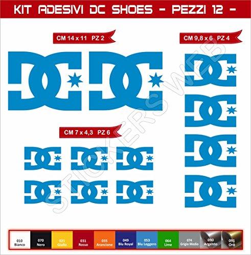 Aufkleber stickers DC SHOES DCSHOES -Motorrad- Cod. 0574 (Blu Leggero cod. 053)