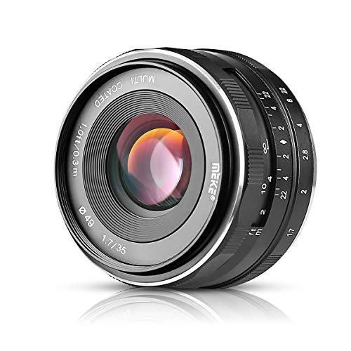 Meike Objectif APS-C focus manuel à grande ouverture 35mm f/1.7 Pour appareil photo sans miroir ...Fuji