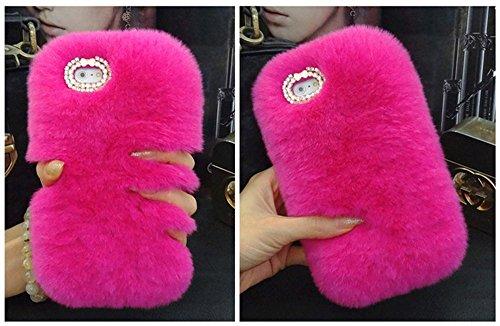 Coque iPhone 6 Plus 6S Plus Case, Sunroyal Étui de Protection Arrière Pratique Fashion Chic Housse Telephone Accessoires Élegant avec Diamant Bling Bling Strass Paillette Brillante Glitter de Luxe Étu Rose Rouge