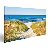 islandburner Bild Bilder auf Leinwand Weg Zum Meer Strand Dünen Nordsee Poster, Leinwandbild, Wandbilder
