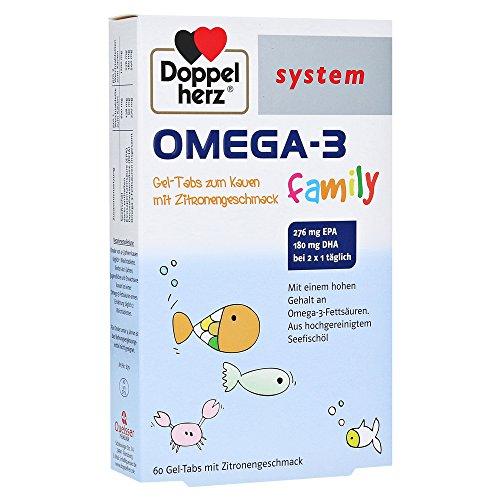 Doppelherz Omega-3 family Gel-tabs system Kautable 60 stk