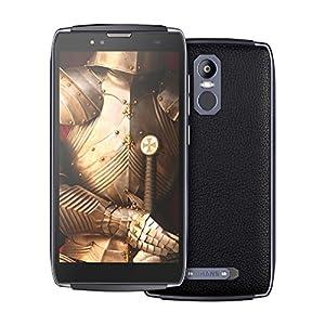 Telephone Portable Debloqué, UHANS U300 4G Robuste Smartphone (écran Tactile 5,5 Pouces Full HD, 4 Go de RAM + 32 Go de ROM, OCTA-core, 13MP & 8MP Caméra, 1.0GHz, Double SIM, GPS, WIFI, Noir MT6750T)