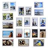 Lot de 20 mini-aimants pour cadre photo | Porte-photos aimants pour réfrigérateur | Accessoires de maison personnalisés | Souvenir Souvenir Idée Cadeau | M&W