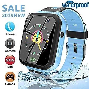 GYR Smartwatch for Kids 1,44″ Touchscreen Kinder Armbanduhr mit Voice Chat Taschenlampe für 4-12 Jahre Jungen Mädchen Geburtstagsgeschenk, Kindersmartwatch13Blau gjkl