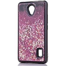 Funda Huawei Y635 Quicsand Cáscara Silicona TPU Diseño 3D Creativo Caso Líquido Flotante Arena Movediza Bling Gliter Brillo Suelto Lentejuelas Protectora Transparente Cubierta (Estrellas Rosa)