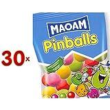 Maoam Pinballs Sachet 30 x 70g Packung (Kaubonbons verschiedener Geschmacksrichtungen)