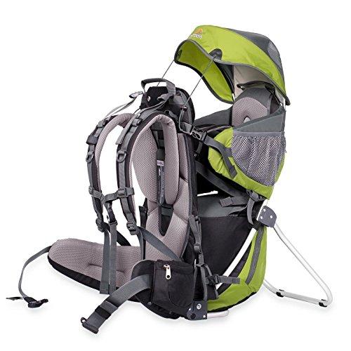 Dacony Corazon Panda Rückentrage - Kindertragerucksack | Baby Tragesystem mit Sonnenschutz und Steigebügel eignet Sich zum Wandern mit Kleinkind oder in der Stadt - Kompletes Set