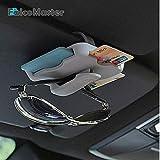 FASHLADY Parasol Coche para la identificación del crédito de la Tarjeta VIP de Carreteras del Organizador del almacenaje con el Clip es Automotive Accesorios de automoción: Negro