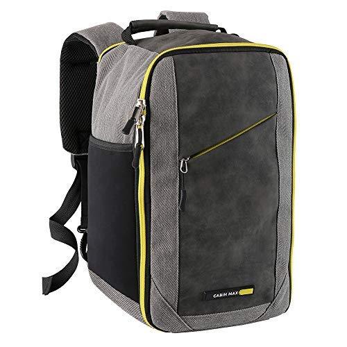 Manhattan Stowaway Bag - 20x35x20cm - Carry On Bag Elegante Cabin perfetto per indennità di Ryanair Second bag (Manhattan Yellow)