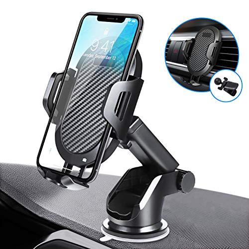 Porta cellulare da auto universale, savfy supporto smartphone per auto estensibile con ventosa per parabrezza per cruscotto per presa d'aria porta telefono per iphone, galaxy, note, huawei, xiaomi