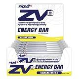 ZV8 Energy Bar, Uncoated Banana 20 x 55g by Zipvit Sport