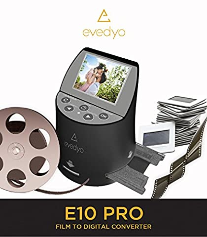 Evedyo E10 PRO Film to Digital Converter (7-in-1) – Slide Scanner Converts 35mm, 8mm, Negatives & More – Quick & Easy Operation – Digitize Old Memories to High-Definition 22MP