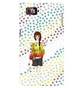 PRINTVISA Cute Girl Case Cover for Lenovo K 920