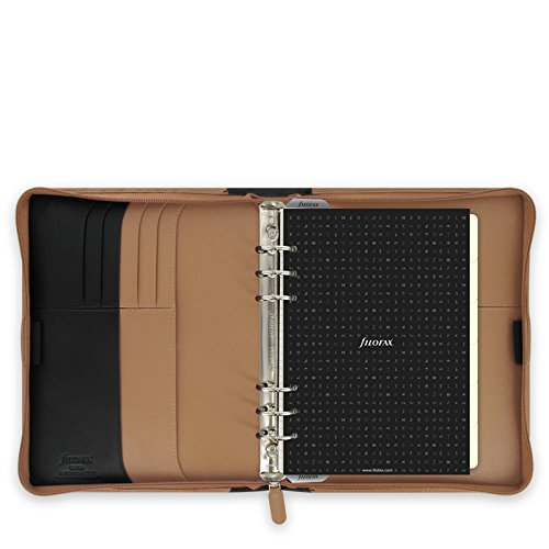 Great Buy for Filofax A5 Nappa Leather Zipped Organiser – Taupe/Black Online