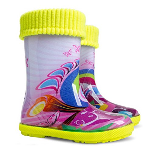 Demar Exclusive Boys Girls Kids Warm Fleece Lined Wellington Boots Wellies