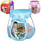 Monsieur Bébé ® Tente de jeu enfants pliable + 200 balles et sac de rangement - Trois modèles - Normes CE