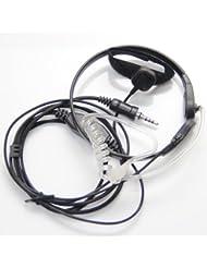 Laringófono Auricular Kit Bodyguard Transparente Con Micrófono Dedo PTT Para Yaesu Vertex VX-6R 7R 6E 7E 120 127 170 177 Walkie Talkie