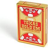 Cartamundi 22540056 - Plastik Poker, Texas Hold Em, rot