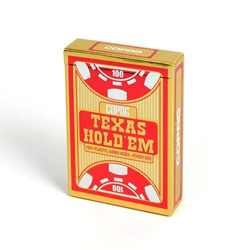 Copag 22540056 - Plastik Poker, rot, Texas Hold'Em, Spielkarten