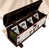 Jahrestag Geschenk Kasten, Hölzerner Tee Kasten, Weihnachtstee Kasten, Schäbiger Schicker Tee Kasten, Muttertee Kasten, Frau Tee Kasten