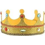 MagiDeal Glitter King Queen Plush Crown Hat Kids Adults Fancy Dress Fairytale Royal Costume Fancy Dress Gift