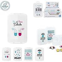 Pillendose Boite à Pille transparent mehrere Fach mit Deckel 10x 7x 3Motiv zufällige preisvergleich bei billige-tabletten.eu