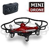 Indoor Mini Größe Drohne für Kinder und Drohnen Anfänger Outdoor Spielzeug (rot)