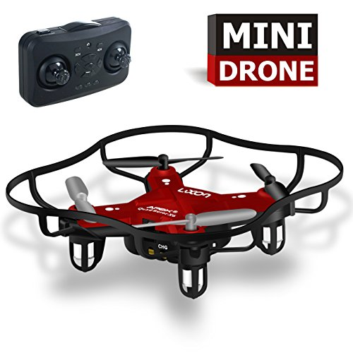 Toys for Kids Mini Quadcopter Drones Beginner 2017 Top Toys for Boys Outdoor or Indoor(Red) By Luxon