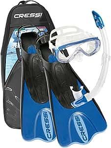 Cressi Palau SAF Accessoires pour plongée (lunettes de plongée, tuba et palmes), citronier, L-XL