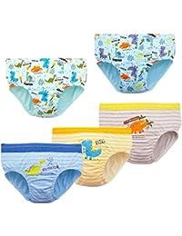 RAISEVERN Ropa Interior para niños Calzoncillos bóxer para bebés pequeños Patrón de Dibujos Animados en 3D Niños Niñas Braguitas Comyfy Pantalones Cortos con Calzoncillos Calzoncillos 2-13 años