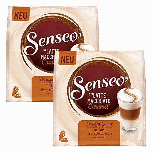 Senseo Kaffeepads Latte Macchiato Caramel, Karamellgeschmack, Cappuccino, Kaffee Pad, 20 Pads