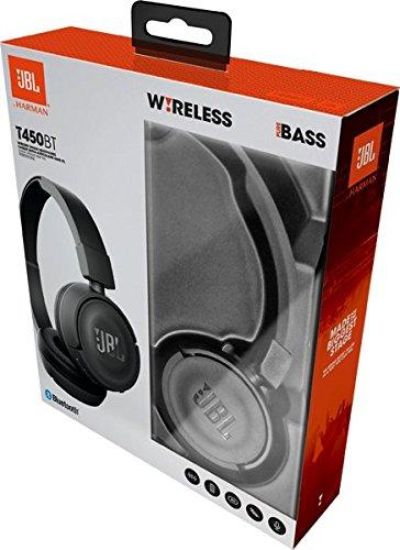 JBL T450BT Cuffie Sovraurali Bluetooth Cuffie On Ear Wireless con Microfono e Comandi su Padiglione JBL Pure Bass Sound, Leggere e Pieghevoli, da Viaggio, fino a 11 h di Autonomia, Nero - 8