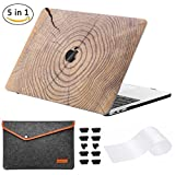 Miger custodia MacBook Pro 33 cm 2017 & 2016, cover rigida per A1706/A1708 marrone Tree Rings 13 Inches(Model A1706/A1708)