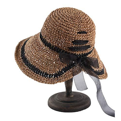 Elegante Garn Bogen Kamel 2019 Neue Koreanische Version des Bügels Haken Haken Großen Strohhut Sonnenblende Hut Frau