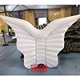 Sitzsäcke Faule Sofa-aufblasbare sich hin- und herbewegende Reihe _ Schmetterlings-Flügel, die Entwässerung auf Engels-Flügel-sich hin- und herbewegenden Reihe Angel Wings, weiß, 250X180Cm schwimmen