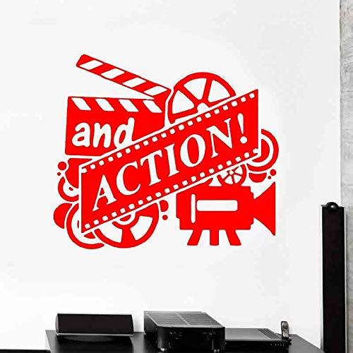 zqyjhkou Azione Adesivo Film Drammatico Regista di Classe Vinile Casa Deocr Adesivo murale Produttore cinematografico Carta da Parati smontabile Studio Wallpaper 3 49x42cm