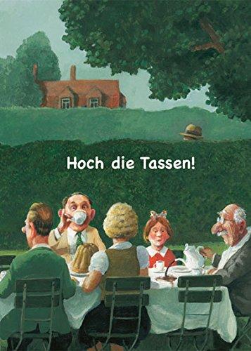 Klappkarte mit Umschlag C6- (11,5 x 17 cm) • 24775-5 ''Hoch die Tassen'' von Inkognito • Künstler: INKOGNITO © Rudi Hurzlmeier • Ostern • Einladungen (Künstler-kaffee-tasse)