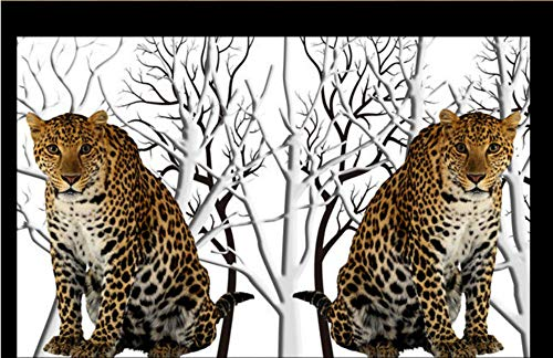HDOUBR High Definition Dschungel verlassen das Wohnzimmer TV Sofa Papier Hintergrund Dekoration Wandbild, 350x245cm (137.8 x 96.5 in) -