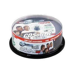 TX CLOCHE DE 25 CD SOFT-R CD autogravables 700MB TX CDSTX700SC25