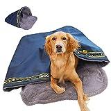 KIOPS Hundeschlafsack Winter Gross mit Kunstlammwolle für Camping und Backpacking, Wetterfester Schlafsack für Hunde, Hundedecke Camping Zelt, Direkt ab Werk