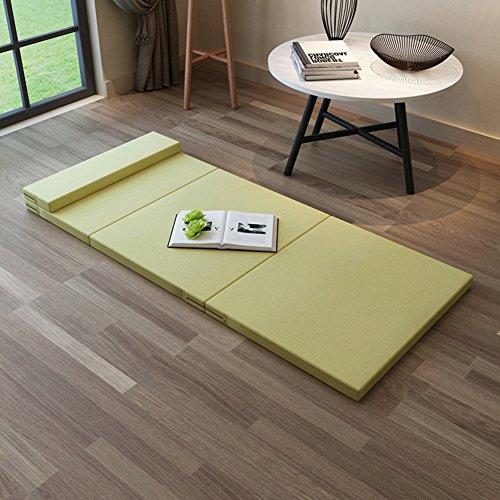 CNZXCO Falten Tatami-Boden-matratze schlafen, Schlafen pad Futon-matten Wohnheim Office Matratze, Atmungsaktive Waschbar-Zitronengelb gelb 90x200cm(35x79inch) - Herbst Futon